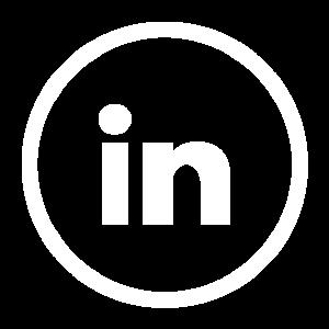 Linkedin icons White